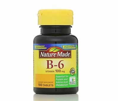 Nature Made Vitamin B-6 100 mg Tablets 100 Tablets
