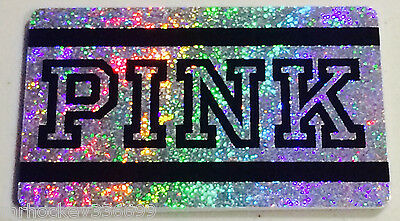 "Victoria's Secret Canada ""PINK"" BLACK & SILVER Collectible Gift Card French/Eng"