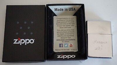 Zippo Silver Customized Gib Forever Liz Lighter Made in USA