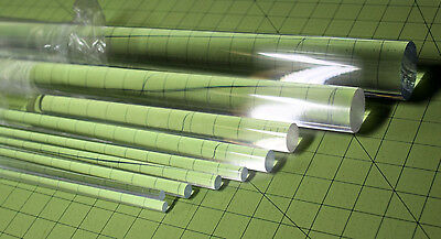12 Pieces Clear Acrylic Plexiglass Lucite Rod 12 Diameter 6 Long Free Ship
