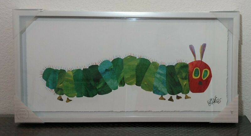 """ERIC CARLE MARMONT HILL The Very Hungry Caterpillar DRAWING FRAMED 24"""" x 12"""""""