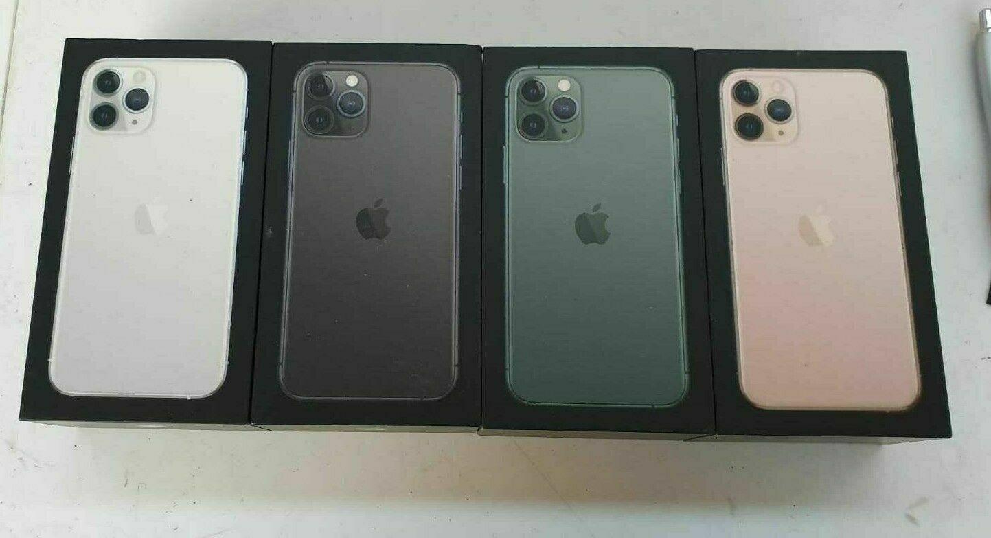 как выглядит Genuine Apple iPhone 11 Pro Max Empty UK Box - Black Green Silver Grey фото