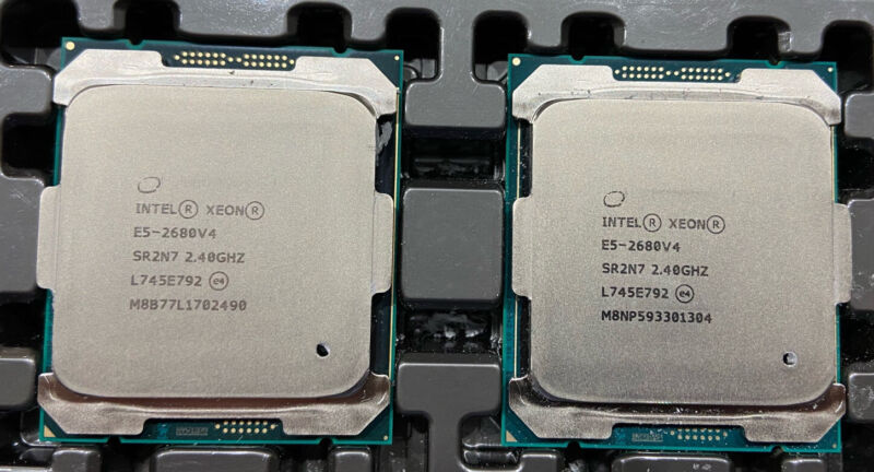 MATCHING PAIR INTEL XEON E5-2680V4 14 CORE 2.40GHz PROCESSORS US Seller