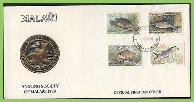 Malawi 1989 Angling Society, Fish set on First Day Cover