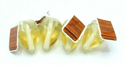 Bath & Body Works Cinnamon Nut Bread Wallflower Plug Refill Bulbs Lot of 4