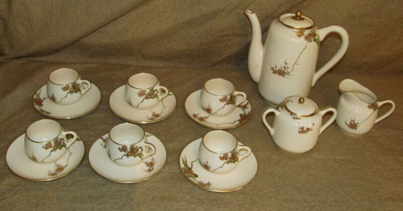 Reduced ! Old or Antique Fine Japanese Satsuma Tea Set Signed