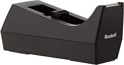 Scotch Desktop Tape Dispenser 1 Inch Core Weighted Non-skid Base Black Classic