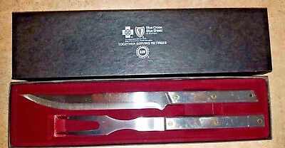 BLUE CROSS BLUE SHIELD OF MICHIGAN CARVING SET BY AMERICAN CUTLERY STAINLESS NEW