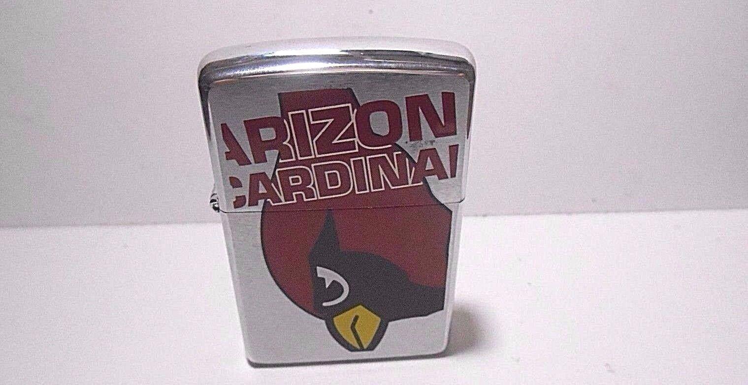 NEVER FIRED ZIPPO 2000 F-XVI CIGARETTE LIGHTER - ARIZONA CARDINALS NFL FOOTBALL