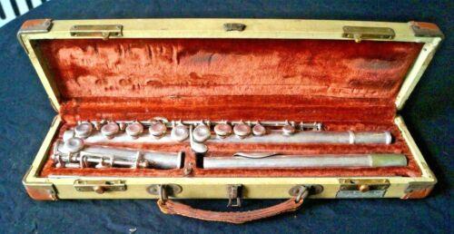 Vintage Artley Silver Flute W/ Original Case - Wind Musical Instrument