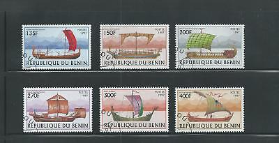 Benin Scott # 1040-1045 Used/CTO Sailing Vessels