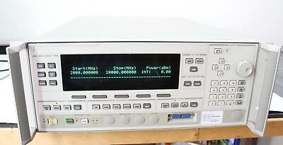 Agilent Hp 83624a Synthesized Sweeper 2- 20ghz High Power Calibrated Opt 004 008
