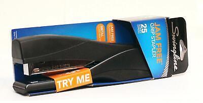 Swingline Optima Grip Full Strip Stapler - 25-sheet Cap. Jame Free Black - Metal
