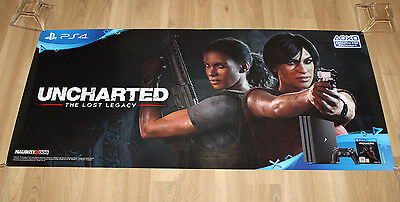 Uncharted The Lost Legacy Rare Promo Poster Playstation 4 Ps4 120X55cm