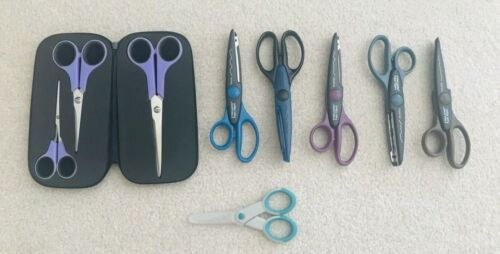 Mixed Lot of Scissors - Fiskars, Cutting Edge and Jo-Ann Scrap Essentials