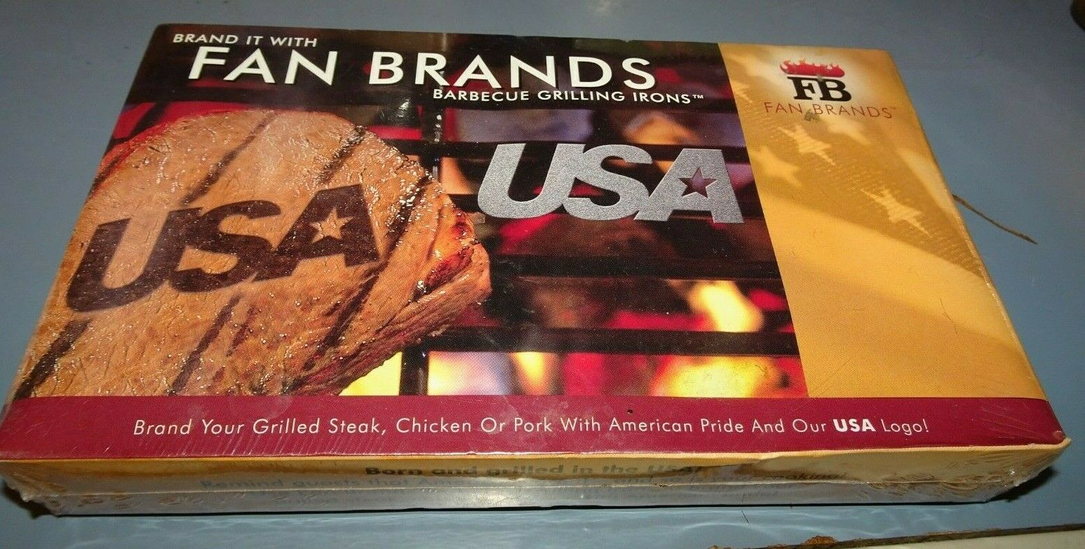 Fan Brands Barbecue Steak Grilling Iron WITH AMERICAN PRIDE