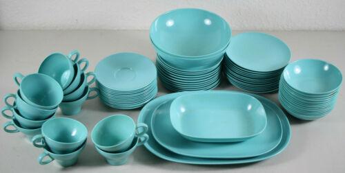 Texas Ware Melamine turquoise Aqua Blue Vintage Set 67 Pieces !