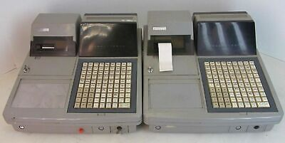2 Uniwell Ux-60 Pos Cash Registers 80 Stroke Keys Dot Matrix Printer With Manual