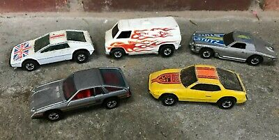 Cheap Race Cars (Lot of 5 Hot Wheels upfront 924 royal flash Omni Stutz Prosche Race Car Derby)