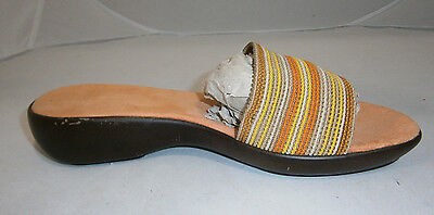 Stretch Soft Footbed - CONTESA SIZE 7 MADE IN ITALY WOMENS SANDALS SLIP ON STRETCH FABRIC SOFT FOOTBED