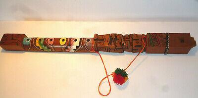 Bolivian Hand Crafted Decorative Flute Pan-Andean Mythology Gods Tiwanaku segunda mano  Embacar hacia Spain