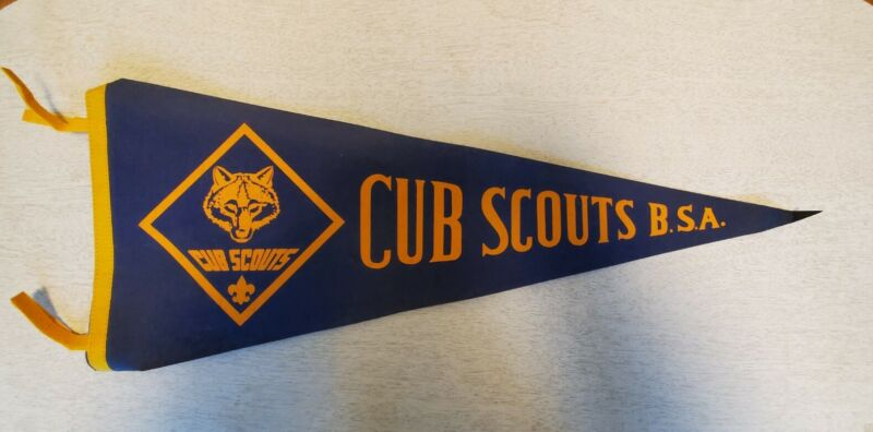 Cub Scouts Vintage Pennant Flag 12 x 30 in