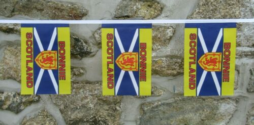 Bonnie Scotland Saltire Flag Polyester Bunting - Various Lengths