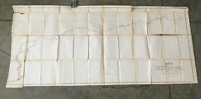 large 1852 antique MAP brazil RIVERS OF THE AMAZON huallaga UCAYALI forrest PERU