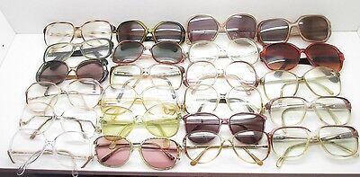 SET of 23 VINTAGE WOMENS OVERSIZED EYEGLASSES FRAMES eyewear bulk lot TV6 S100