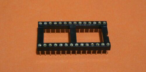 "10 PCS PHOENIX 2227-MC286TGF1 28 PIN DIP 0.6"" 15.24mm GOLD THRU HOLE IC SOCKET"