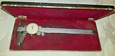 Mitutoyo Dial Caliper No. 505-623 Stainless Hardened Vintage Japan .001 Rare