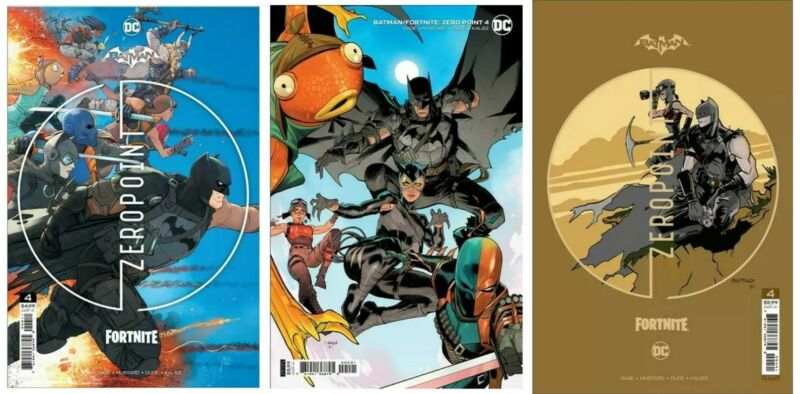 Batman Fortnite Zero Point #4 A B C Set Options w/ redeemable code presale 6/1