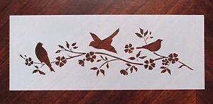 Bird Flower Tree Stencil for Airbrush, Crafting, Artwork, Wall Art, Etc..