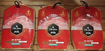 (3) Old Spice Duo Dual Sided Pure Sport Body Wash Cleanser Shower Bath Scrubbers