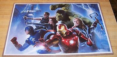 Avengers Hulk Thor Captain America Iron Man Black Widow Landscape 11X17 Poster