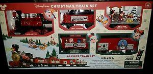 Disney Parks Christmas Train Set Mickey & Friends 30pc NIB w/remote control