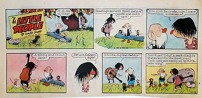 The Little People by Walt Scott - full color Sunday comic page, October 19, 1969