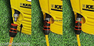 Pressure Washer Hose Connector 100 Secure For Karcher -12 Or 34 Garden Hose