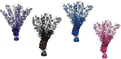 60th Birthday Table Centerpieces (60th Birthday Party Foil Table Cascade Centrepiece Decoration Assorted)
