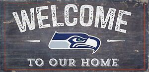 """Seattle Seahawks """"Welcome To Our Home"""" Wood Sign (New)"""