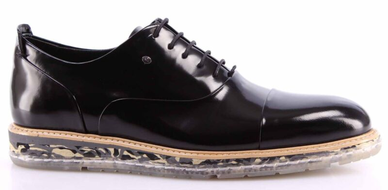Men s Shoes ROBERTO SERPENTINI Leather Black Business Elegance Hand Made  Italy фото aedb6f6977b