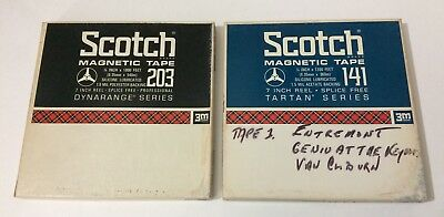 (2) SCOTCH Used Vintage Reel to Reel Tapes 7 1/2 IPS Recorded Orchestra Music