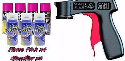 Performix Plasti Dip Premium Wheel Kit 4 Fierce Pink Glossifier 3 Cans W V-grip