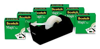Scotch Magic Tape 6 Rolls With Dispenser Numerous Applications Invisible ...