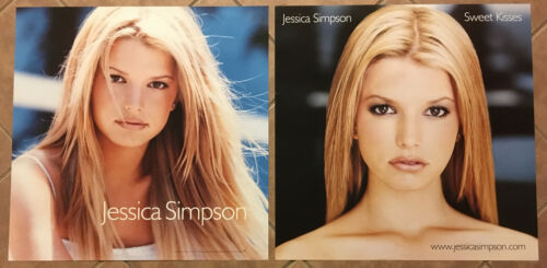 JESSICA SIMPSON Rare 1999 DOUBLE SIDED PROMO POSTER for Sweet CD 24x24 MINT