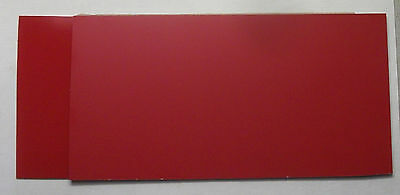 Plastic Engraving Stock L-p-387a Ndp Red Wwhite Core 5 34 X 11 34 2 Pcs.