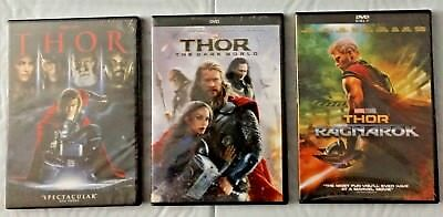 Thor Trilogy  Thor  The Dark World    Thor  Ragnarok  3 Dvds Combo  Free Ship