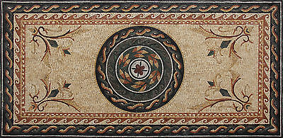Roman Leaves Carpet Majestic Marble Mosaic CR30 - Roman Leaves