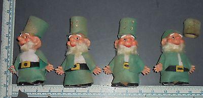 Vintage plastic & Felt Leprechaun figures made in Japan