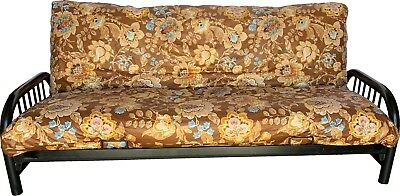 Full Futon Mattress Cover, Bed Protector Covers 100% Cotton Flower Deco #35 ()